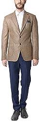 Design Factory Men's Slim Fit Blazer (TDF-BLZ-931_XL, Beige, XL)