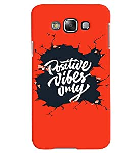 Fuson Premium Positive Vibes Printed Hard Plastic Back Case Cover for Samsung Galaxy Grand 3 G7200