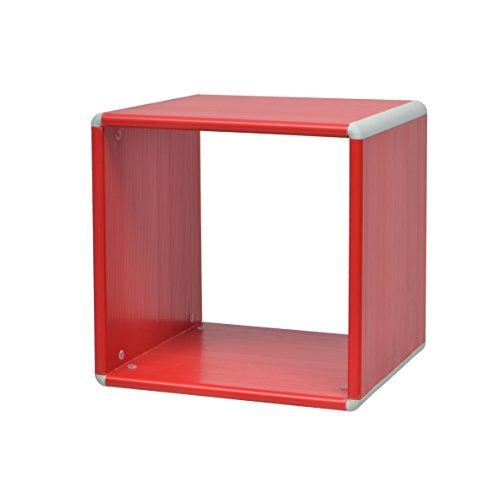 More Design ALIX-1X1 Cube de Rangement Plastique Rouge