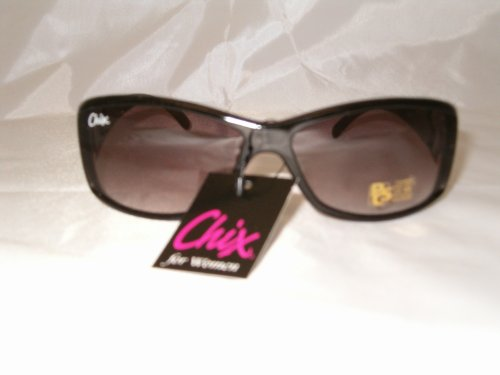 Ladies Designer Look Bling Biker Chix Sunglasses
