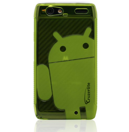 Green - Cruzer Lite Androidified A2 High Gloss TPU Soft Gel Skin Case - For DROID RAZR MAXX [Cruzer Lite Retail Packaging]