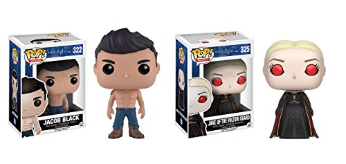 Funko POP! The Twilight Saga: Jacob Black and Jane of the Volturi Guard Toy Action Figures - 2 POP BUNDLE