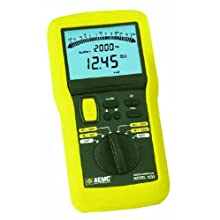 AEMC 1035 Digital Megohmmeter Field Kit with Test Leads, Probes, Alligator Clips, and Field Case, 20 Gigaohms Insulation Resistance, 400 Kilohms Low-Resistance, 600V
