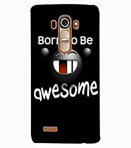 ColourCraft Funny Image with Quote Design Back Case Cover for LG G4