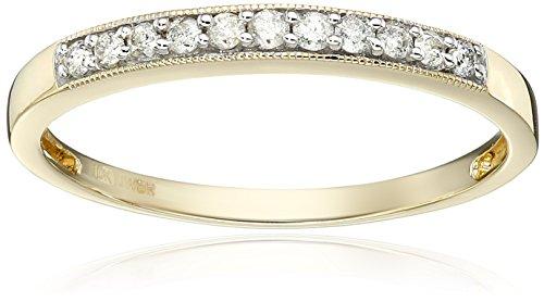 10K Yellow Gold Diamond Anniversary Ring (1/6 cttw), Size 6 (Anniversary Rings Yellow Gold compare prices)