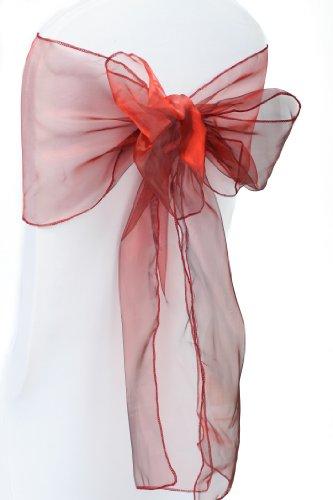 Housse de chaise Bordeaux CHASSIS de 10 nœuds & Décoration Mariage Fête