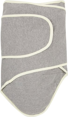 Buy Cheap Miracle Blanket Swaddle, Grey with Yellow Trim
