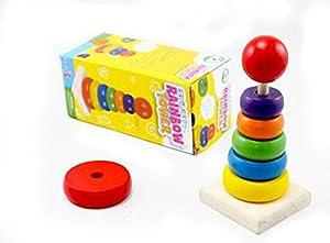 Demarkt Rainbow Blocks de Juego perla rompecabezas del bebé para los niños Juguetes de madera educativos marca Demarkt