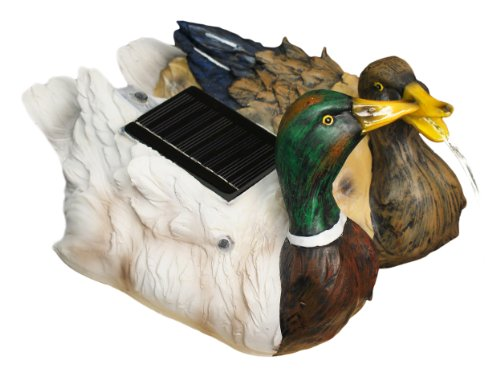 Ambiente Pair Of Floating Ducks Solar Water Feature