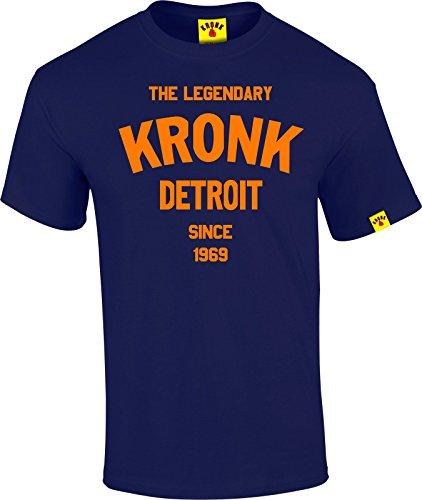 La leggendaria Kronk Detroit dal '69A Maniche Corte da Uomo T Shirt Regular Fit cotone Navy Large