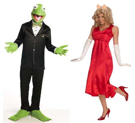 The Muppets Couples Costume Miss Piggy & Kermit Adult Standard