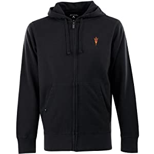 Antigua Mens Arizona State Sun Devils Fleece Full-Zip Hooded Sweatshirt by Antigua