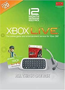 Xbox 360 Live 12 Month Messenger Gold Pack