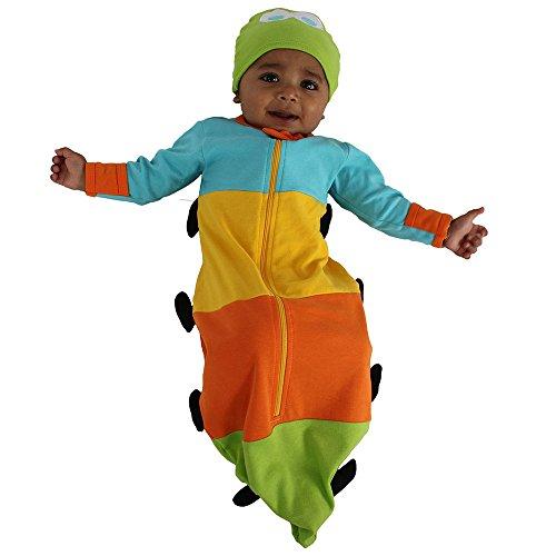 sozo-unisex-baby-newborn-caterpillar-bunting-and-cap-set-blue-yellow-orange-green-0-6-months