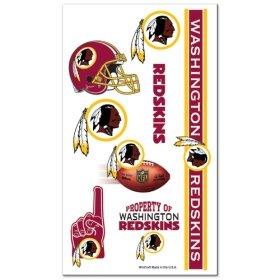 Washington Redskins Temporary Tattoos
