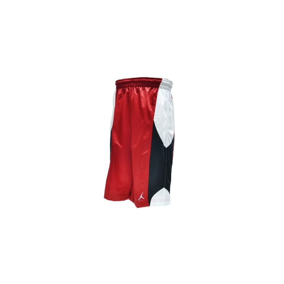 7bb176f8e34e72 Jordan Durasheen Mens Athletic Basketball Shorts Red White Black 404309 696  (Size M)