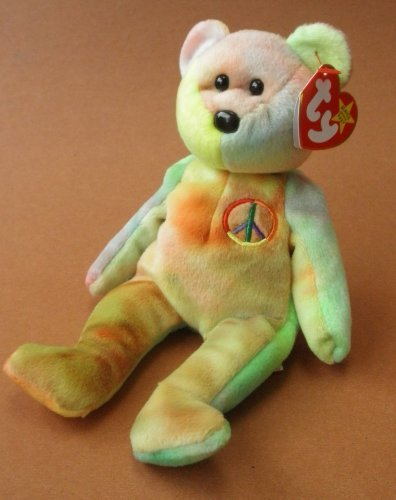 TY Beanie Babies Peace the Bear Plush Toy Stuffed Animal