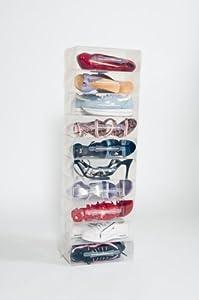 10 Stackable Ladies Clear Shoe Storage Boxes