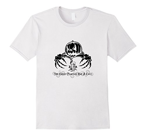 Men's The Great Pumpkin Has A Cult T-Shirt Large White (Cult Classic Halloween Costume Ideas)