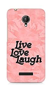 Amez Live Love Laugh Back Cover For Micromax Canvas Spark Q380