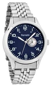 Ferretti Men's | Stainless Steel Bracelet & Blue Dial Watch | FT11103