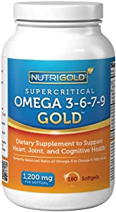 Omega 3 6 9 1200mg supplement with omega 7 sea for Nutrigold fish oil