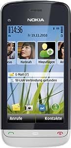 Nokia C5-03 Smartphone (8.1cm (3.2 Zoll) Touchscreen, 3.5mm Klinkenbuchse, Ovi Karten, GPS) aluminium grey