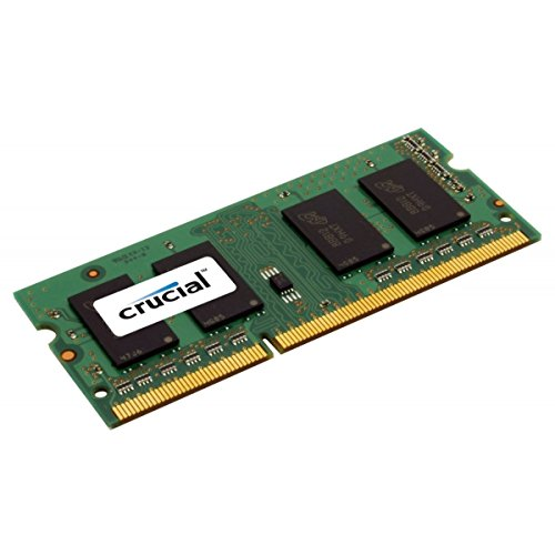 Crucial 8GB Single DDR3 1600 MT/s (PC3-12800) CL11 SODIMM 204-Pin 1.35V/1.5V Notebook Memory CT102464BF160B