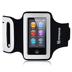 iPod Nano 7 Shocksock Reflective Sports Armband / Case / Cover / Holder - Black