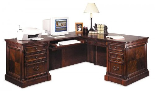 Buy Low Price Comfortable Mount View Desk with Left Computer Return (Dark Cherry) (74″W X 30″H X 36.5″D) (B003K3WPRU)