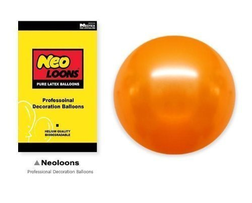Neo-LOONS-5-Pearl-Orange-Premium-Latex-Balloons-Great-for-Kids-Adult-Birthdays-Weddings-Receptions-Baby-Showers-Water-Fights-or-Any-Celebration-Pack-of-100