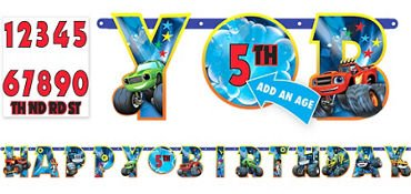 Buy Blaze and the Monster Machines Birthday Custom Age Banner