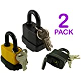 Pack of 2 - Heavy Duty Waterproof Padlock - Ideal for Home, Garden Shed, Outdoor, Garage, Gate Security