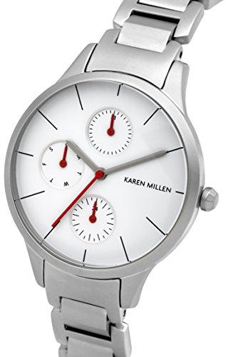 Karen-Millen-Damen-Armbanduhr-Analog-Quarz-Edelstahl-KM144SM