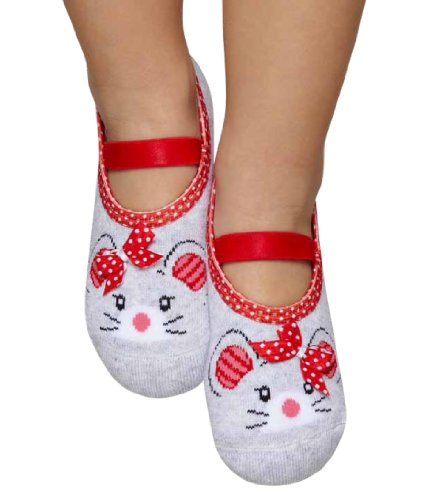 Cheap Puket Kids Girl Booties, Mouse (Kids-Mouse)