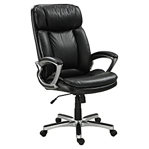 Serta Puresoft Faux Leather Executive Big & Tall Office Chair - Smooth Black