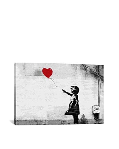 Banksy Girl With A Balloon Gallery Wrapped Canvas Print, Multi, 40 x 60