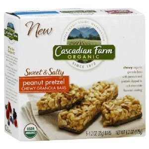 Cascadian Farm Organic Sweet and Salty Peanut Pretzel Chewy Granola Bar, 6.2 Ounce -- 12 per case.
