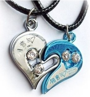 'Two Hearts Beat As One' Couple Necklace Set By Miku Hatsune