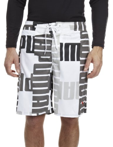 Puma Mens Board Shorts I White 550966-03 X-Large