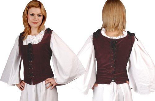 Pirate Wench Peasant Renaissance Medieval Costume Corset Bodice
