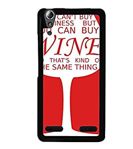 Printvisa Wine Glass With A Quote Back Case Cover for Lenovo A6000