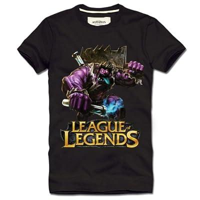 Aovei League of Legends Dr.Mundo Short Sleeve T-shirt,Black,XL