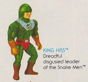 Buy Low Price Mattel Vintage 1980s Masters of the Universe King Hiss Action Figure MOTU 100% Complete (B0046BF1OO)