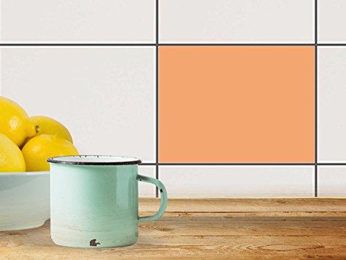 Sticker Carrelage Autocollant | Mosaïque murale - Individualiser cuisine | Motif Orange 3 | 20x15 cm (1 pièce)