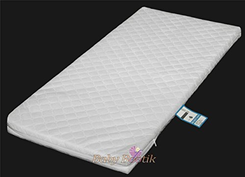 Anti-bacterial Baby Crib, Cradle Foam Mattress (90 X 40 X 4 Cm) With Quilted Breathable Zip Cover By Baby Comfort