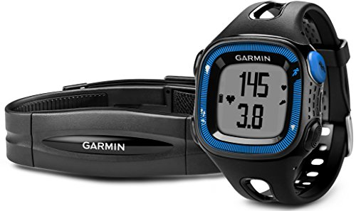 Garmin Forerunner 15 GPS Running Watch and Activity Tracker, Large - Black/Blue