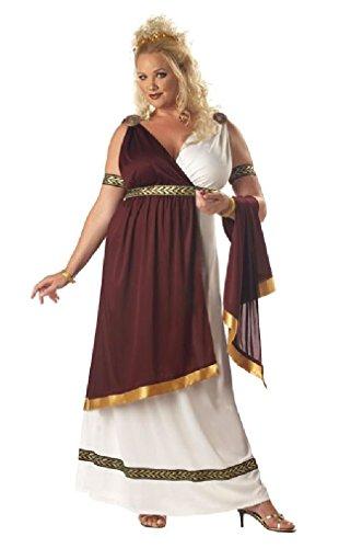 Fancy Roman Empress Toga Plus Size Adult Costume (Roman Empress Plus Size Costume)