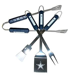 Nfl Dallas Cowboys 4-piece Barbecue Set from Siskiyou