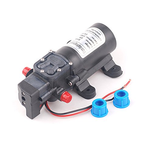 DC 12V 80W 0142 Motor 5.5L/min High Pressure Diaphragm Pump Micro Electric Water Self Priming Sprayer Pump Car Washing Machine (Car Washing Pump compare prices)